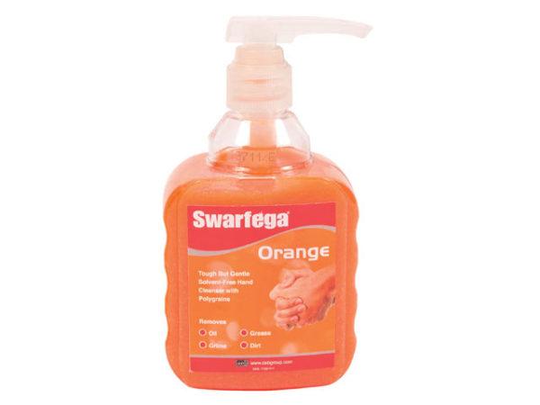 Orange Hand Cleaner Pump Top Bottle 450ml