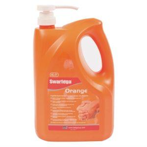 Orange Hand Cleaner Pump Top Bottle 4 litre