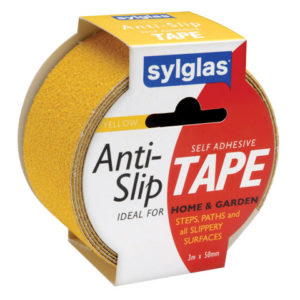 Anti-Slip Tape 50mm x 18m Black & Yellow Hazard