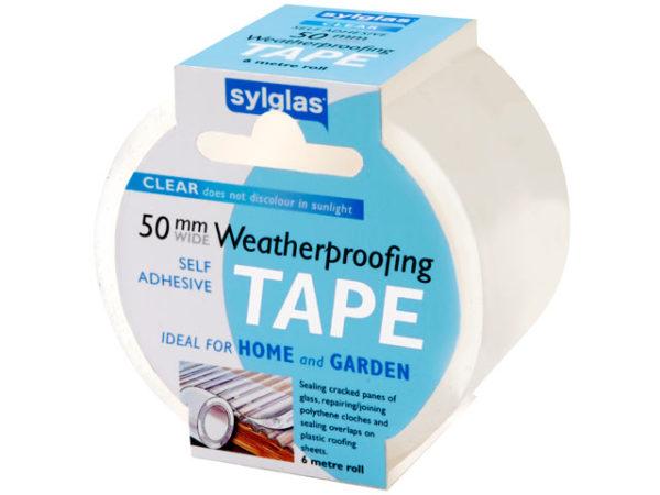 Clear Weatherproofing Tape 50mm x 6m Roll