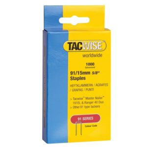 91 Narrow Crown Staples 40mm - Electric Tackers Pack 1000