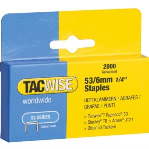 53 Light-Duty Staples 6mm (Type JT21 A) Pack 2000
