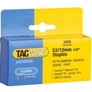 53 Light-Duty Staples 12mm (Type JT21 A) Pack 2000