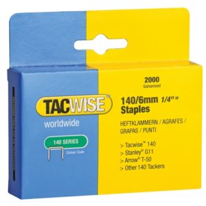 140 Heavy-Duty Staples 6mm (Type T50 G) Pack 2000