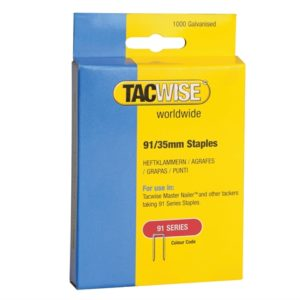 91 Narrow Crown Staples 35mm - Electric Tackers Pack 1000
