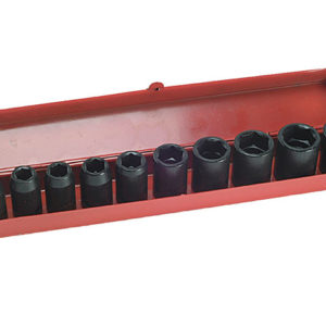 9121 Impact Socket Set of 10 Metric 1/2in Drive