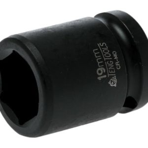 Impact Socket Hexagon 6 Point 1/2in Drive 19mm