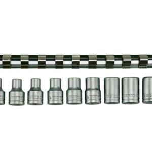 M1210 Socket Clip Rail Set of 9 External TORX 1/2in Drive