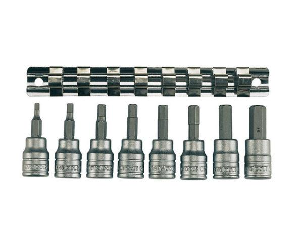 M3811 Socket Clip Rail AF Hex Set of 8 3/8in Drive