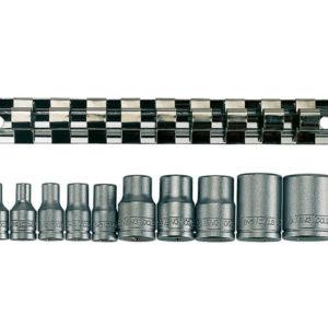 M3814 Socket Clip Rail TX-E Set of 10 3/8in & 1/4in Drive