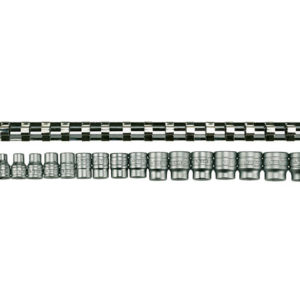 M3816 Socket Clip Rail Set of 16 Metric 3/8in Drive