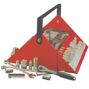 TC187 Mega Rosso Tool Kit Set of 187 1/4 3/8 & 1/2in