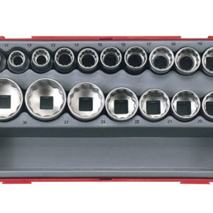 TT1217-6 17 Piece Metric 6p Socket Set 1/2in Drive