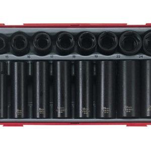 TT9116 16 Piece Regular/ Deep Impact Socket Set 1/2in Drive