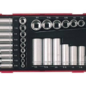 TTAF32 32 Piece Reg/ Deep Socket Set 1/4-3/8in Drive