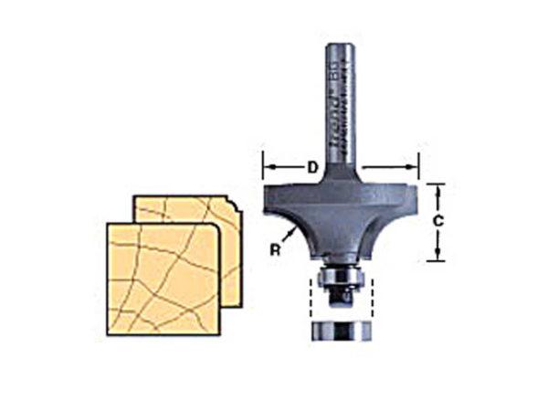 46/115 x 1/4 TCT Bearing Guided Ovolo & Round Over 1.6mm Radius