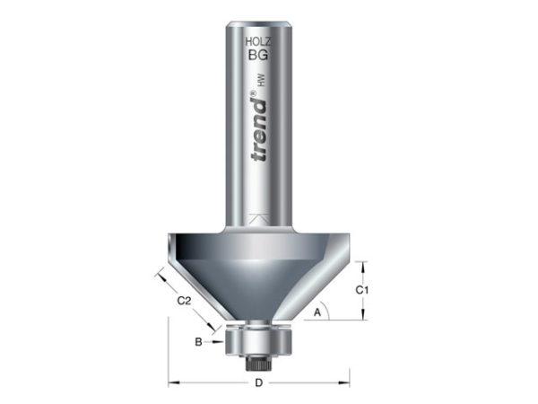 46/360 x 1/2 TCT Bearing Guided Chamfer 45° 35.1 x 12mm
