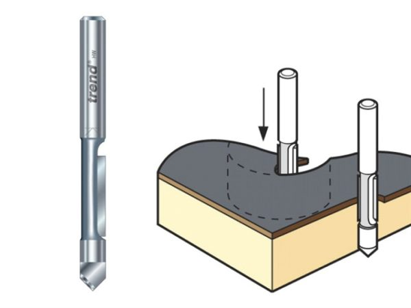 47/4 x 1/4 TCT Pierce & Trim Cutter 6.3 x 18mm
