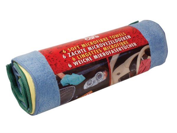 Microfibre Cloths Pack of 6 (30 x 40cm)