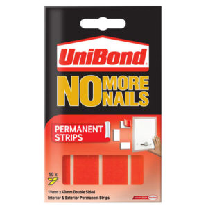 No More Nails Permanent Pads 19mm x 40mm (Pack of 10)