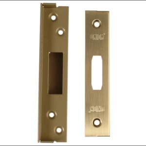 StrongBOLT 2100 Mortice Deadlock Rebate Kit 13mm Polished Brass Box