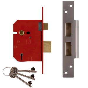 2234E 5 Lever BS Mortice Sashlock Plated Brass Finish 79.5mm 3 in Visi
