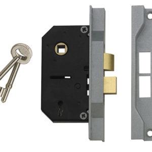 2242 2 Lever Mortice Rebated Sashlock Electro Brass 65.5mm 2.5in Visi