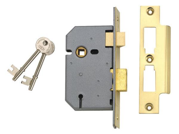 2277 3 Lever Mortice Sashlock Satin Chrome 77.5mm 3in Box