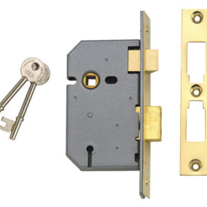 2277 3 Lever Mortice Sashlock Polished Brass 77.5mm 3in Visi