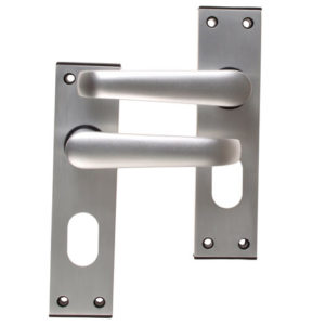 Ambassador Oval Standard Plate Door Furniture Anodised Silver Visi Pack