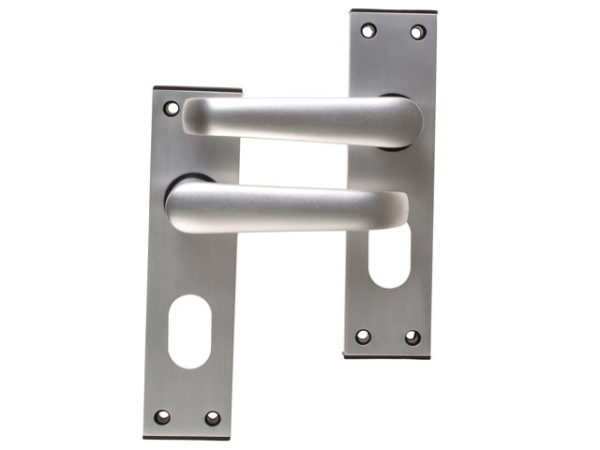 Ambassador Oval Standard Plate Door Furniture Anodised Silver Visi Pack