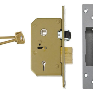 3G115 C Series 5 Lever Deadlock 67mm 2.5in Satin Chrome