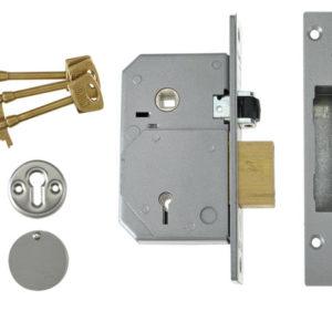 3K74E C-Series 5 Lever Mortice Rollerbolt Sashlock Brass 67mm