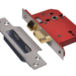 StrongBOLT 2203S 3 Lever Mortice Sashlock Stainless Steel 81mm 3in Visi