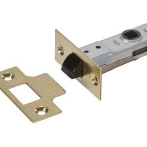 J2600 Tubular Latch Essentials Polished Brass Finish 65mm 2.5in Boxed