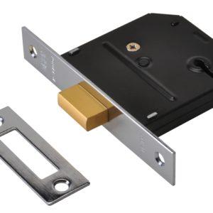 ES-DL Essentials 3 Lever Mortice Deadlock Chrome 79mm 3in Visi