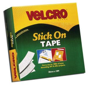 VELCRO® Brand Stick On Tape 20mm x 10m White