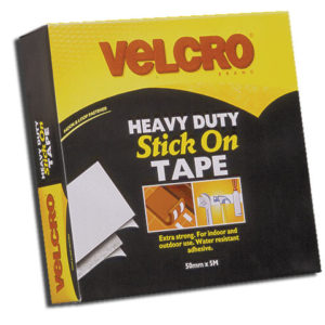 VELCRO® Brand Heavy-Duty Stick On Tape 50mm x 5m Black