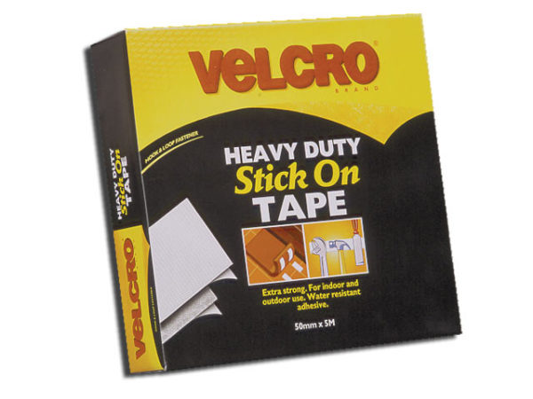 VELCRO® Brand Heavy-Duty Stick On Tape 50mm x 5m White
