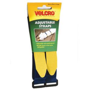 VELCRO® Brand Adjustable Straps(2) 25mm x 92cm Blue