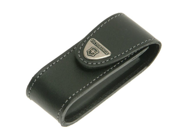 Black Leather Belt Pouch (2-4 Layer)