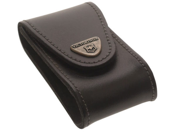 Black Leather Belt Pouch (5-8 Layer)
