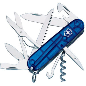 Huntsman Swiss Army Knife Translucent Blue Blister Pack