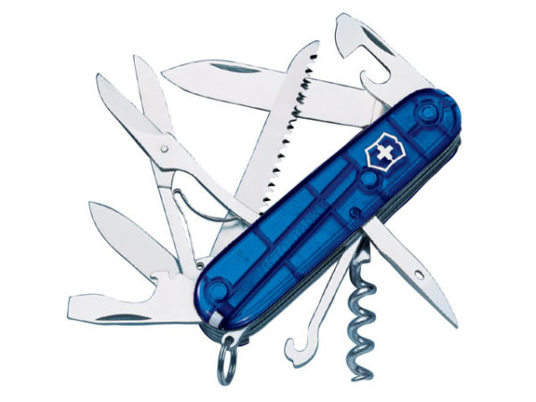 Huntsman Swiss Army Knife Translucent Blue Blister Pack