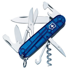 Climber Swiss Army Knife Translucent Blue Blister Pack