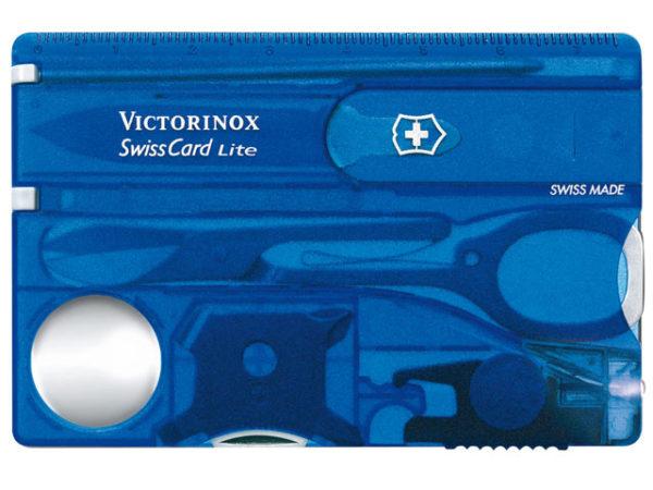 SwissCard Lite Translucent Blue Blister Pack