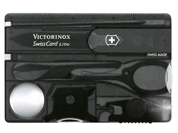 SwissCard Lite Translucent Black Blister Pack