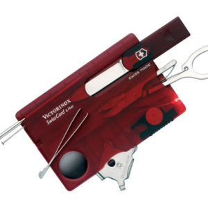SwissCard Lite Translucent Red Blister Pack