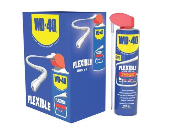WD-40® Multi-Use with Flexible Straw 400ml (Case of 6)