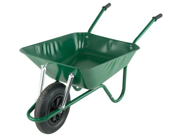 Boxed 85L Green Easi-Load Builders Wheelbarrow